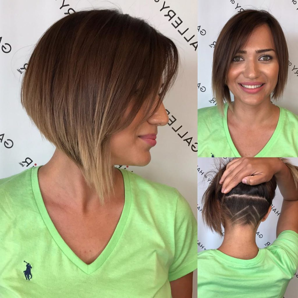 Women's Asymmetric Inverted Bob With Side Swept Bangs And Undercut For Short Haircuts Side Swept Bangs (View 21 of 25)