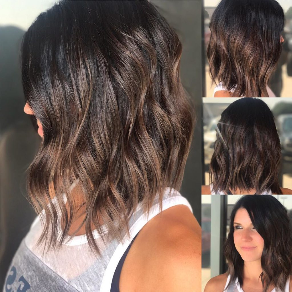 Women's Brunette Wavy Textured Bob With Soft Highlights Medium In Soft Brown And Caramel Wavy Bob Hairstyles (View 12 of 25)