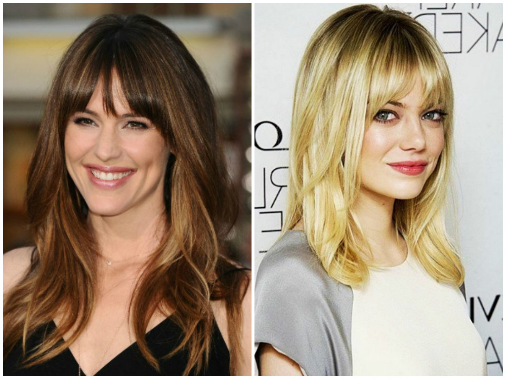 Womens Haircuts With Bangs 2017 | Short, Long, Medium Length Hair Inside Short To Medium Hairstyles With Bangs (View 14 of 25)