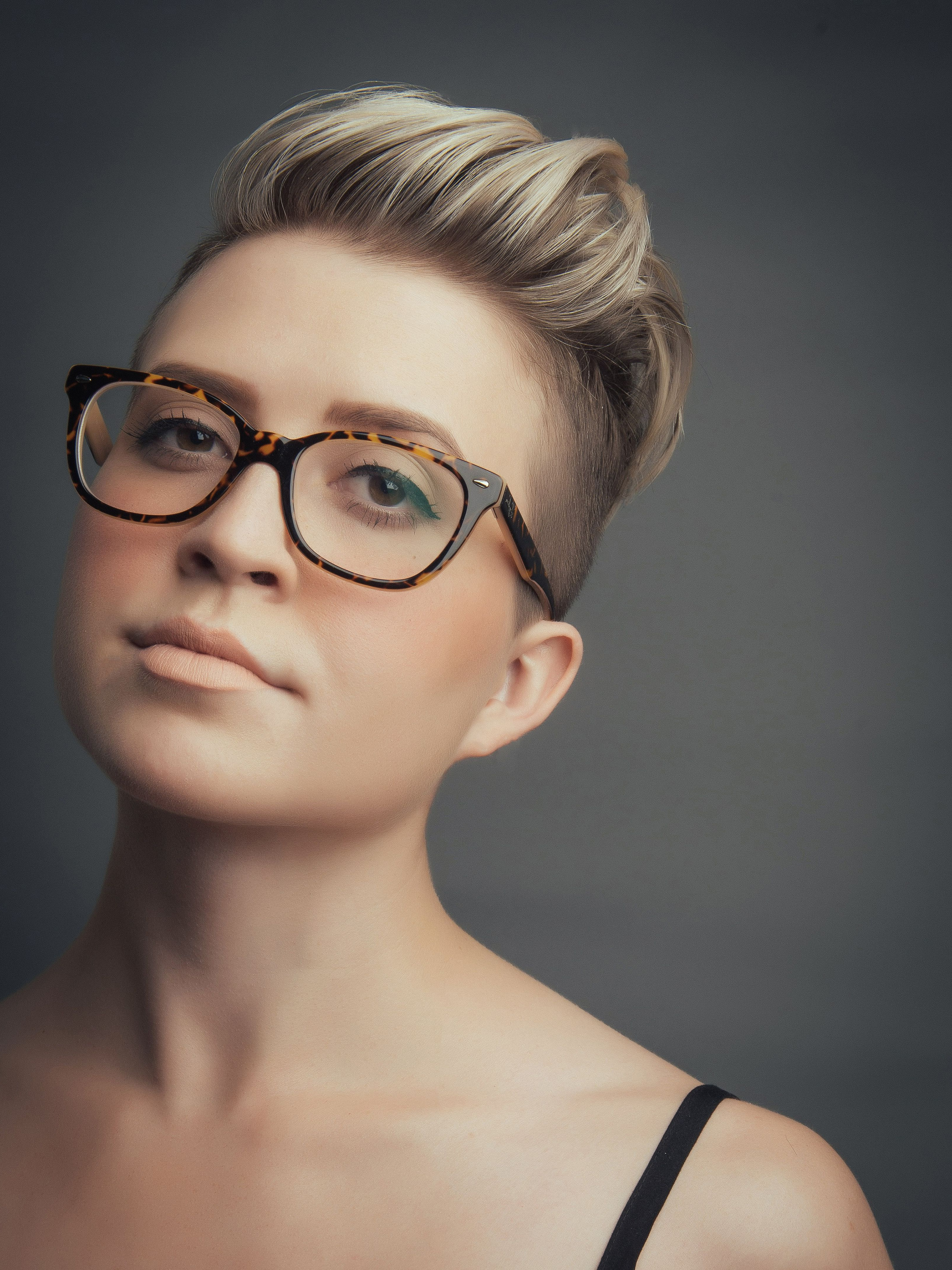 Women's Hi Top Fade Haircut, Blonde Highlights, Not To Mention With Short Haircuts For Women With Glasses (View 25 of 25)