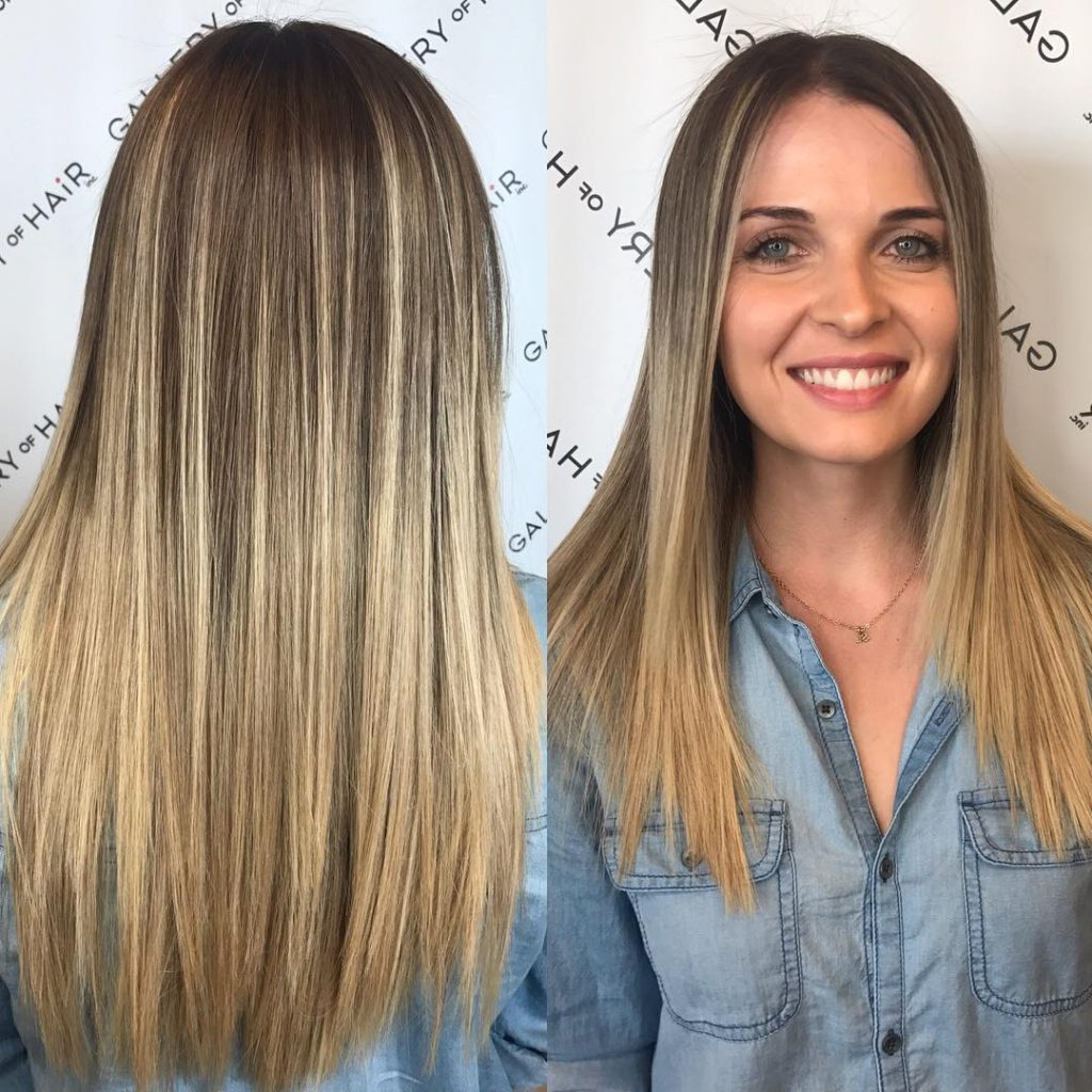 Women's Long Cut With Short Layers And Blonde Ombre Long Hairstyle In Hairstyles For Long Hair With Short Layers (View 20 of 25)