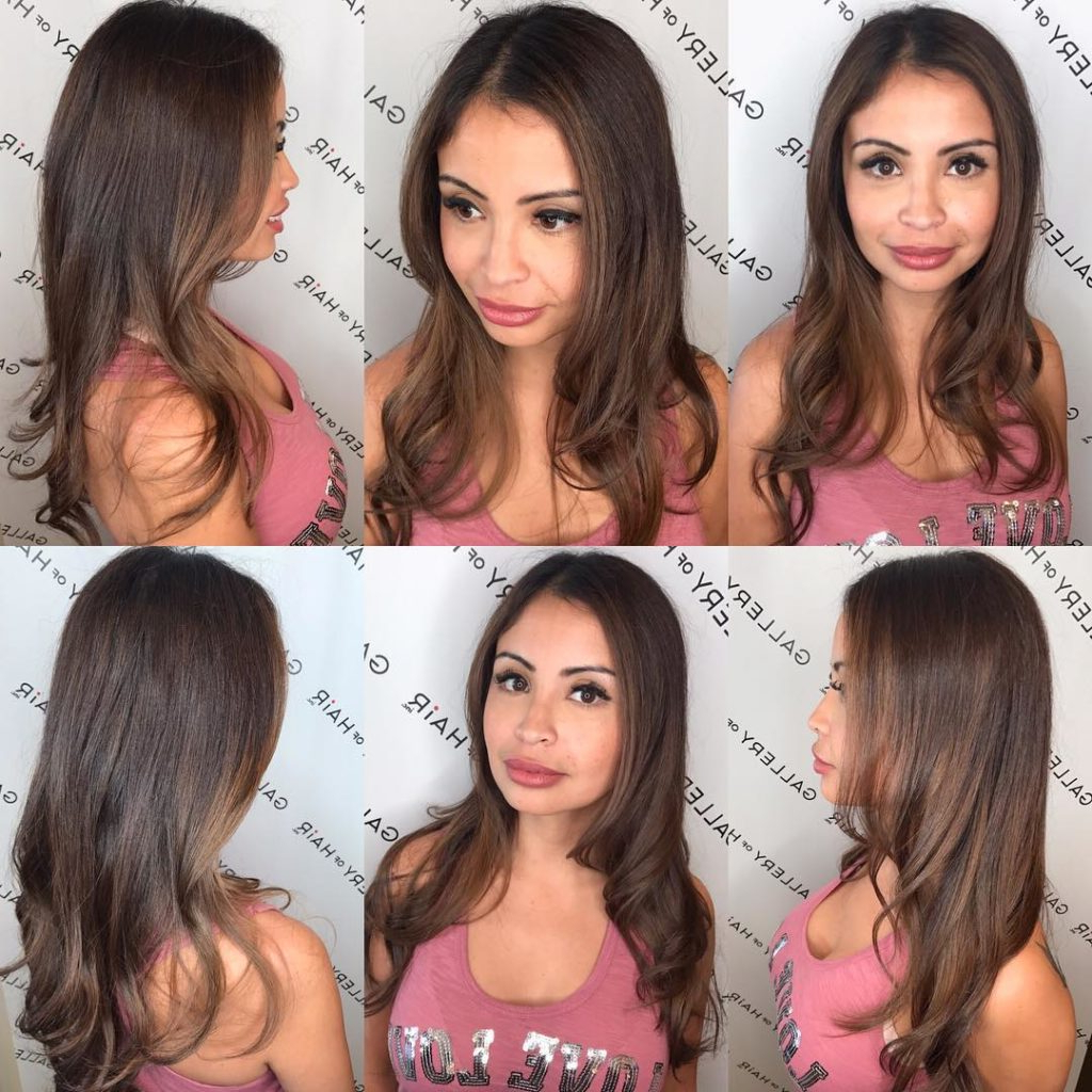 Women's Longhair With Short Layers And Curls With Soft Brunette Throughout Long And Short Layers (View 19 of 25)