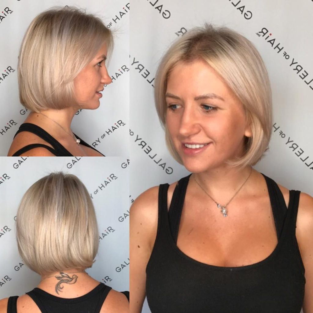 Women's Platinum Classic Bob With Ash Blonde Lowlights Short Hairstyle Inside Ash Blonde Short Hairstyles (View 25 of 25)