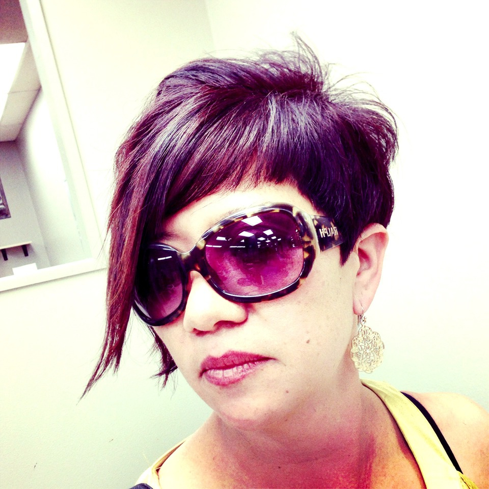 Womens Short Hair Cut With Violet Purple Color | Orange County Hair Throughout Cute Color For Short Hair (View 20 of 25)