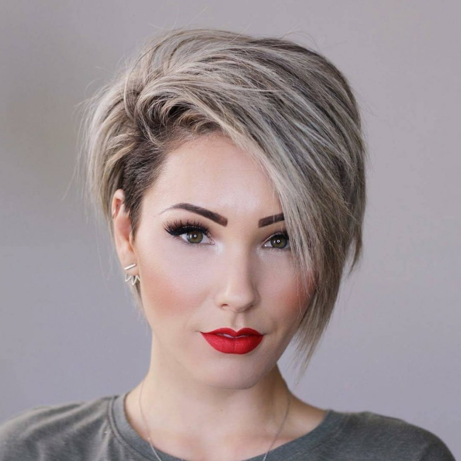 Womens Short Hairstyles For Thick Hair – Best Hairstyles & Haircuts Pertaining To Feminine Short Hairstyles For Women (View 15 of 25)