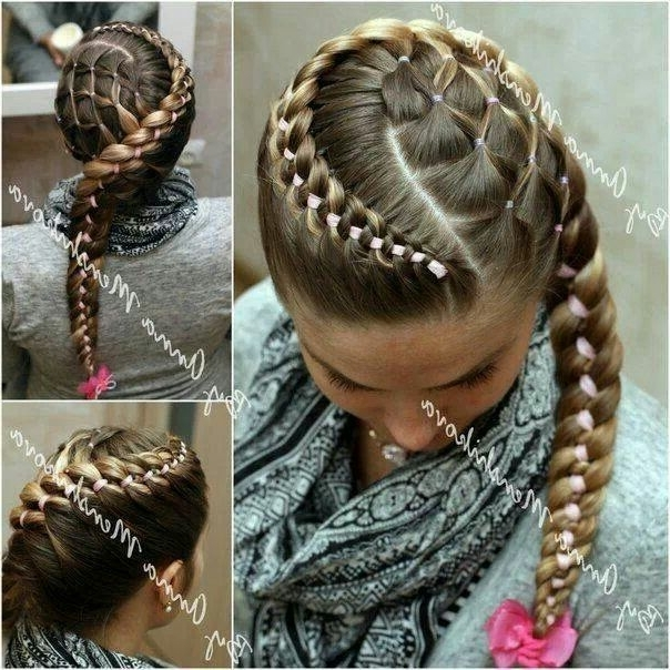 Wrap Around Braid With Criss Cross Side Ponytails | •°•hair Stylez With Regard To Criss Cross Side Ponytails (View 6 of 25)