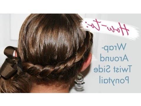 Wrap Around Twist Side Ponytail | Cute Girls Hairstyles – Youtube Within Twisted Front Curly Side Ponytail Hairstyles (View 13 of 25)