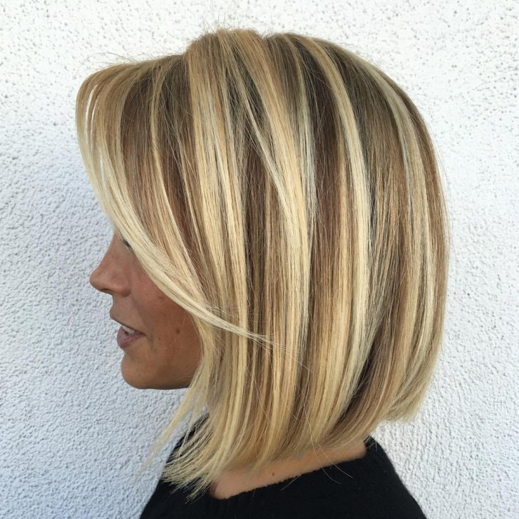 021 Hairstyle Ideas Short Angled Bob With Bangs Hair Sw Natural Inside Blonde Balayage Bob Hairstyles With Angled Layers (View 1 of 25)