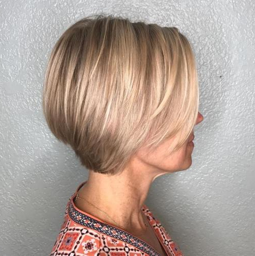 10 Best Hairstyles For Older Women Over 50 Inside Rounded Bob Hairstyles With Stacked Nape (View 1 of 25)