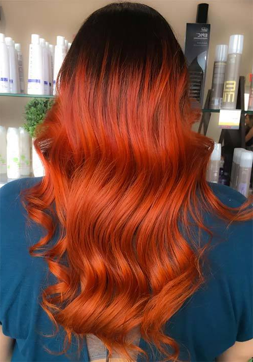 10 Bold Burnt Orange Hair Colors For Adventurous Women With Regard To Burnt Orange Bob Hairstyles With Highlights (View 5 of 25)