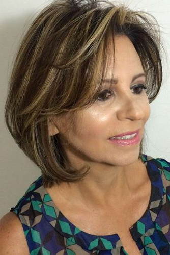 10 Gorgeous Medium Length Hairstyles For Women Over 50 – My Stylish Zoo Intended For Lavender Hairstyles For Women Over (View 21 of 25)