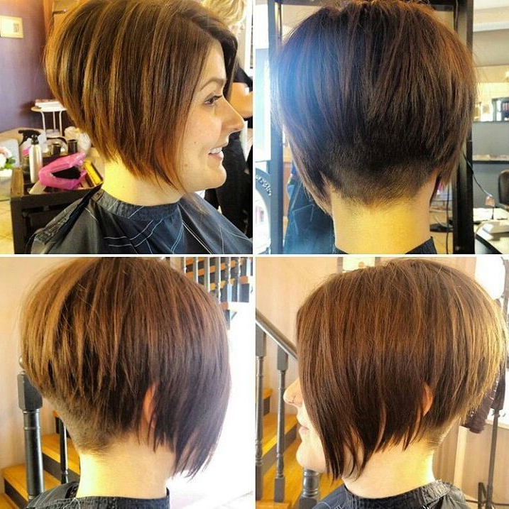 10 Modern Bob Haircuts For Well Groomed Women: Short Hairstyles 2019 In Rounded Bob Hairstyles With Stacked Nape (View 2 of 25)