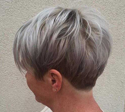 10+ Short Pixie Haircuts For Gray Hair | Pixie Cut 2015 | Haircuts For Tapered Gray Pixie Hairstyles With Textured Crown (View 4 of 25)