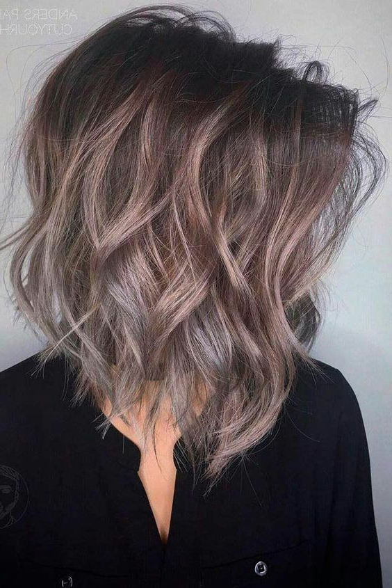 10 Trendy Medium Hairstyles & Top Color Designs 2019 Within Gray Bob Hairstyles With Delicate Layers (View 15 of 25)