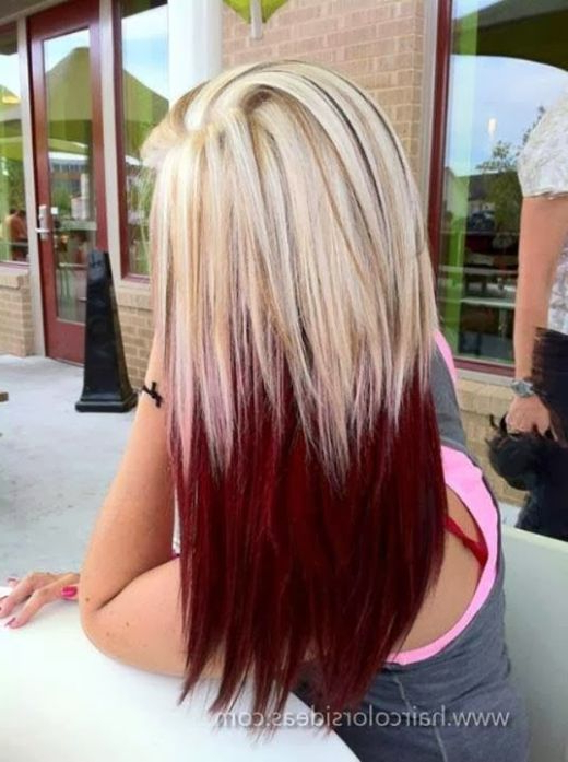 10 Two Tone Hair Colour Ideas To 'dye For | Hairstyles | Pinterest Regarding Voluminous Two Tone Haircuts (View 6 of 25)
