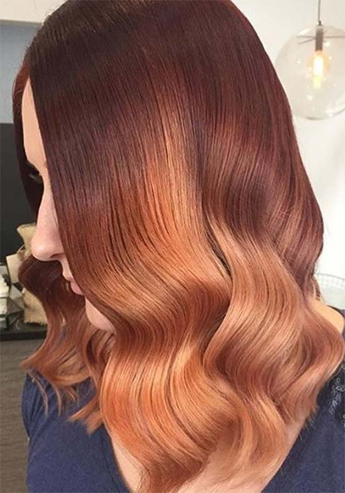 100 Badass Red Hair Colors: Auburn, Cherry, Copper, Burgundy Hair Intended For Soft Auburn Look Hairstyles (View 7 of 25)