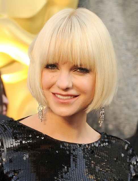 100+ Hottest Short Hairstyles & Haircuts For Women – Pretty Designs Intended For Blonde Bob Hairstyles With Bangs (View 24 of 25)