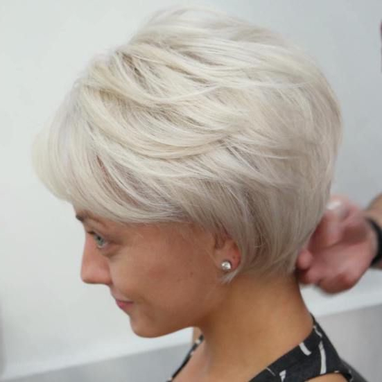 Featured Photo of Long Ash Blonde Pixie Hairstyles For Fine Hair