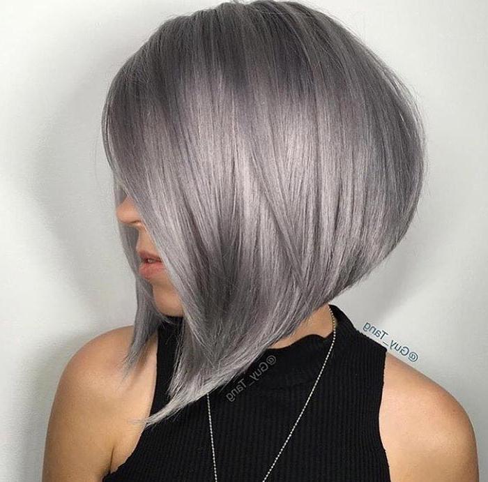100 Short Hairstyles For Women: Pixie, Bob, Undercut Hair   Fashionisers Inside Sleek Gray Bob Hairstyles (View 9 of 25)