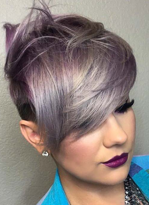 100 Short Hairstyles For Women: Pixie, Bob, Undercut Hair | Fashionisers With Regard To Two Tone Spiky Short Haircuts (View 11 of 25)