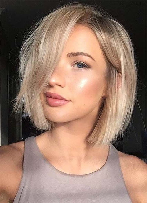 100 Short Hairstyles For Women: Pixie, Bob, Undercut Hair Intended For Short Ruffled Hairstyles With Blonde Highlights (View 7 of 25)