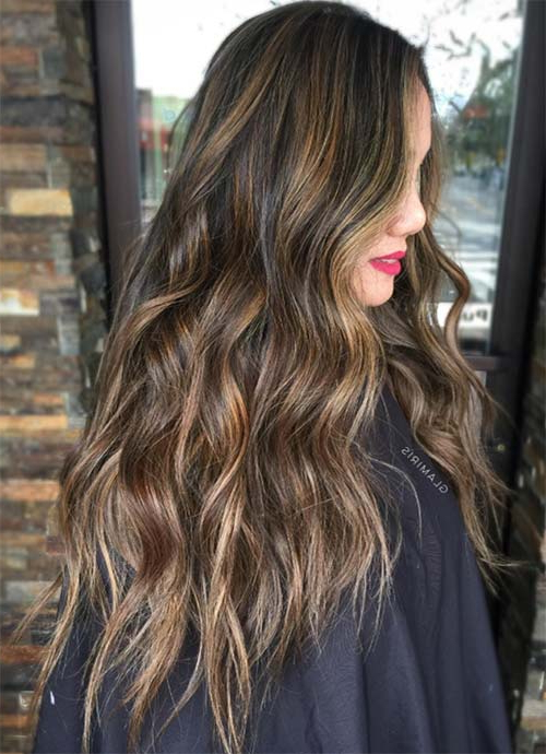 101 Layered Haircuts & Hairstyles For Long Hair Spring 2017 In Chic Chocolate Layers Hairstyles (View 17 of 25)