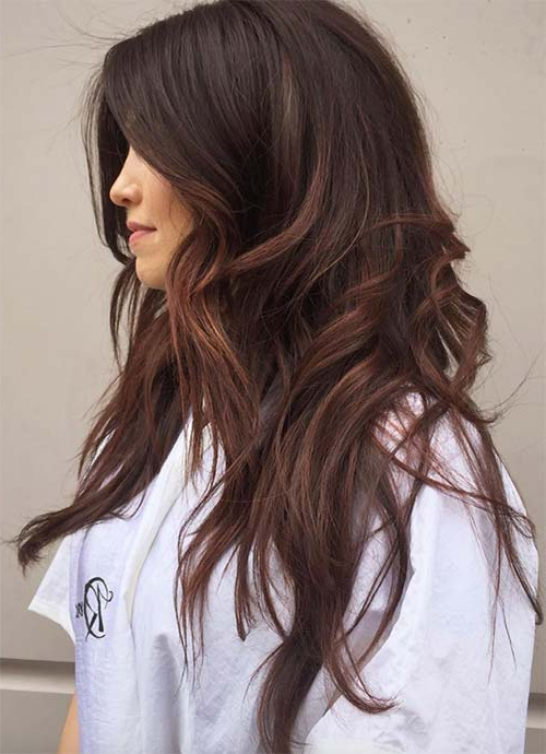 101 Layered Haircuts & Hairstyles For Long Hair Spring 2017 Throughout Chic Chocolate Layers Hairstyles (View 9 of 25)