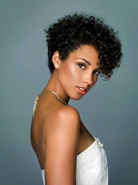 12 Pretty Short Curly Hairstyles For Black Women | Styles Weekly Intended For Short Curly Hairstyles (View 19 of 25)