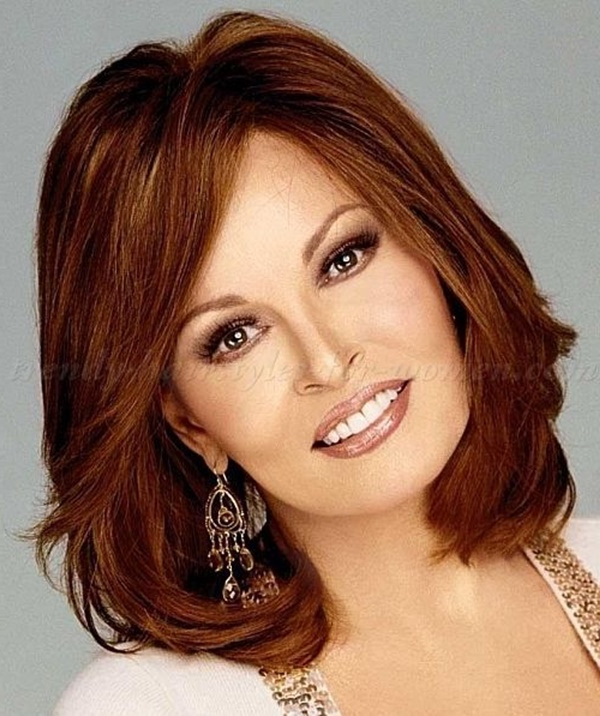 125 Cute Hairstyles For Women Over 50 – Reachel Pertaining To Dark Brown Hairstyles For Women Over  (View 21 of 25)
