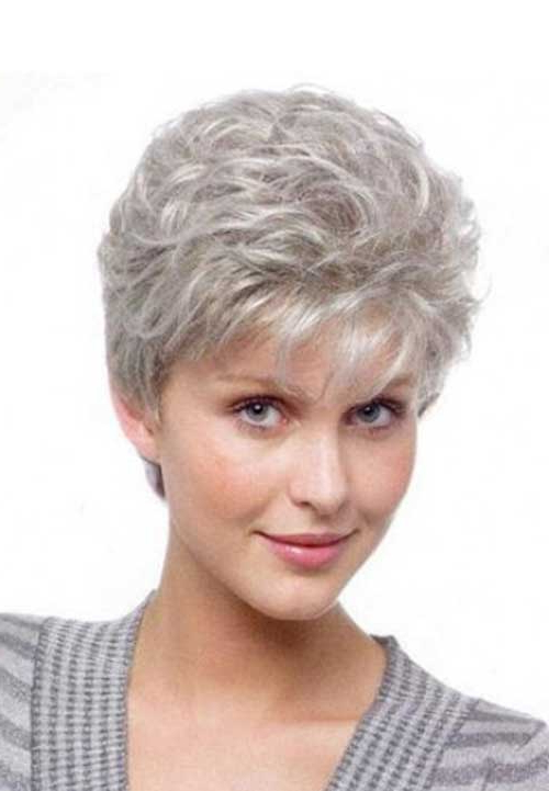 14 Short Hairstyles For Gray Hair | Short Hairstyles 2018 – 2019 Pertaining To Gray Pixie Hairstyles For Thick Hair (View 7 of 25)