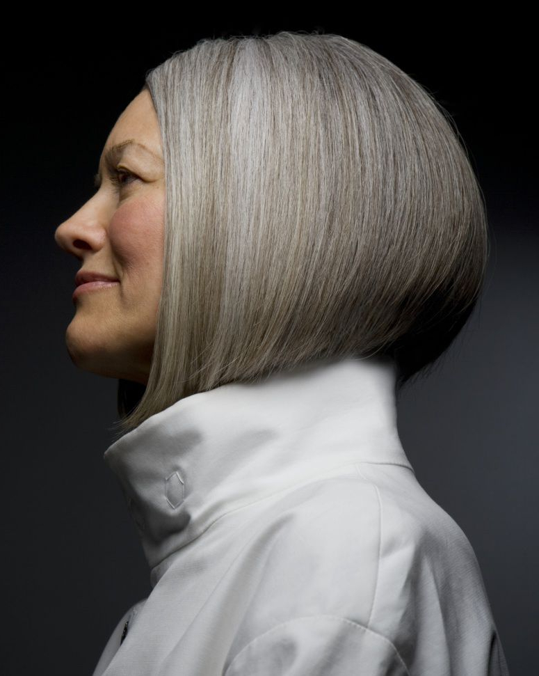 15 Gorgeous Gray Hairstyles For Women Of All Ages Pertaining To Sleek Gray Bob Hairstyles (View 11 of 25)
