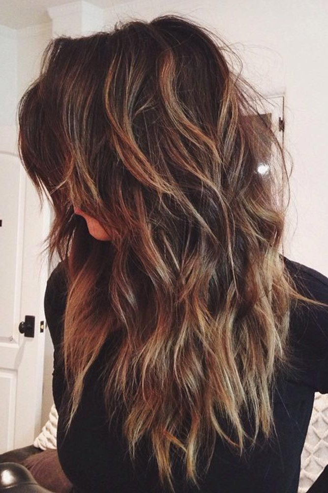 15 Sexy And Stylish Long Layered Haircuts | My Style | Pinterest In Chic Chocolate Layers Hairstyles (View 4 of 25)