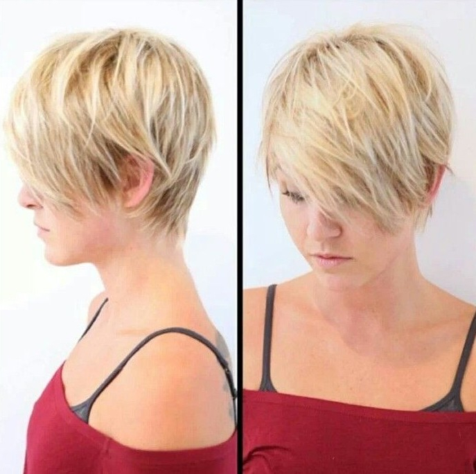 15 Trendy Long Pixie Hairstyles – Popular Haircuts Throughout Layered Pixie Hairstyles With Textured Bangs (View 9 of 25)