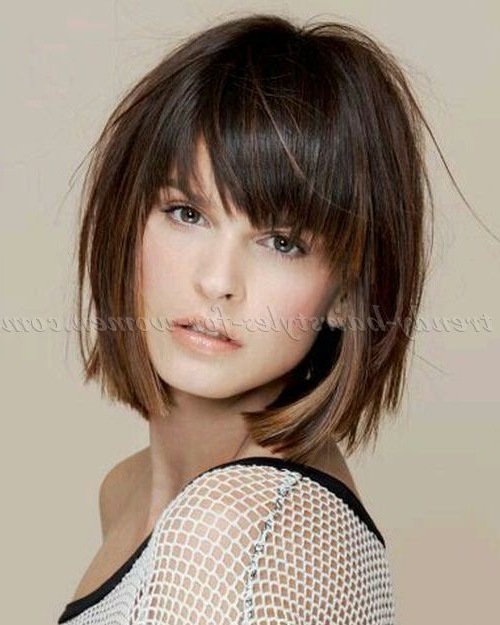 17 Best Bob Hairstyles With Bangs For 2017 | Hair | Pinterest | Hair Inside Layered Bob Hairstyles For Fine Hair (View 16 of 25)