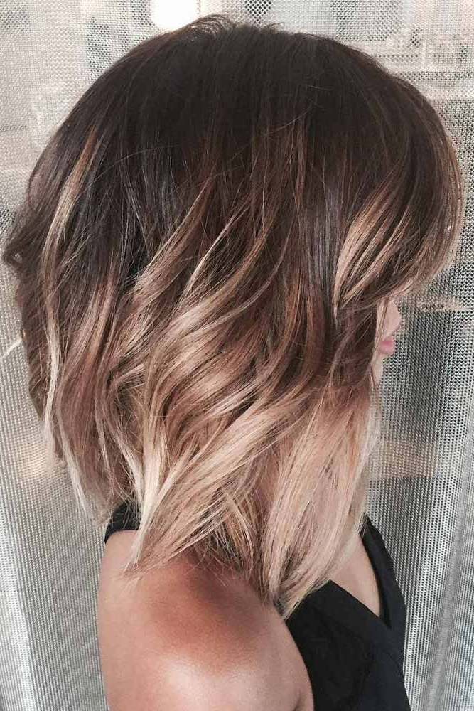 18 Classy And Fun A Line Haircut Ideas – Hairstyles For Any Woman Within One Length Balayage Bob Hairstyles With Bangs (View 2 of 25)