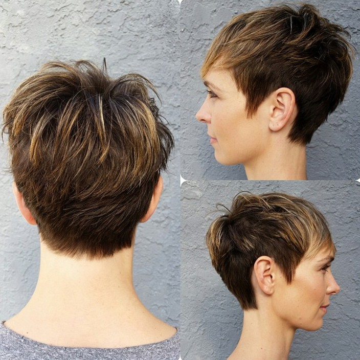 18 Simple Easy Short Pixie Cuts For Oval Faces – Hairstyles Weekly In Pixie Bob Hairstyles With Soft Blonde Highlights (View 10 of 25)