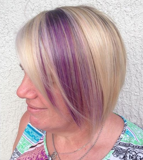 20 Amazing Highlighted Hairstyles For Women – Hairstyles Weekly Throughout Lavender Hairstyles For Women Over (View 10 of 25)