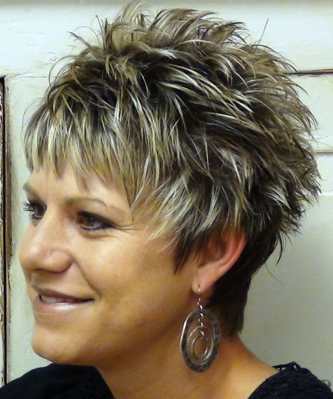 20 Fabulous Spiky Haircut Inspiration For The Bold Women | My Style For Two Tone Spiky Short Haircuts (View 3 of 25)