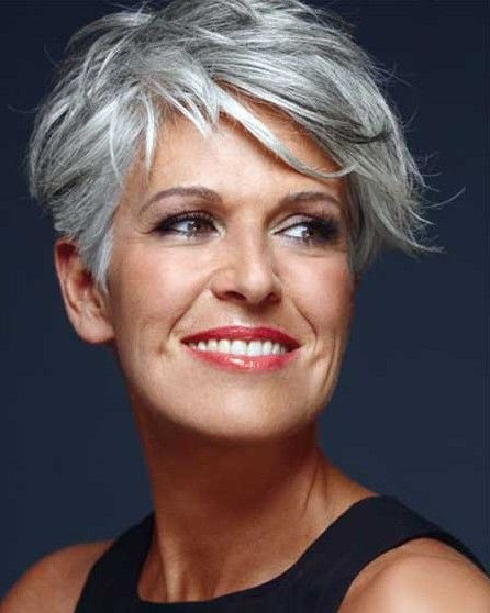 20 Hottest Short Hairstyles For Older Women | My Style | Pinterest Within Cropped Gray Pixie Hairstyles With Swoopy Bangs (View 11 of 25)