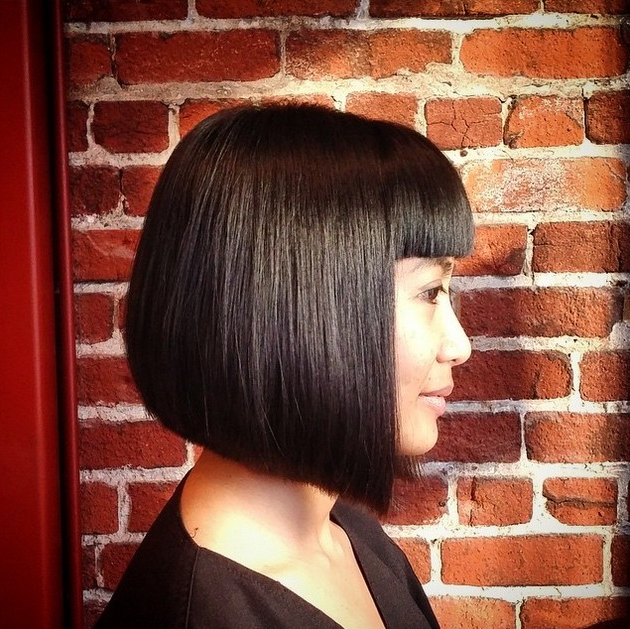 20 Medium Length Bob Hairstyles – Fabulous Mobs To Copy Now | Styles For One Length Balayage Bob Hairstyles With Bangs (View 22 of 25)