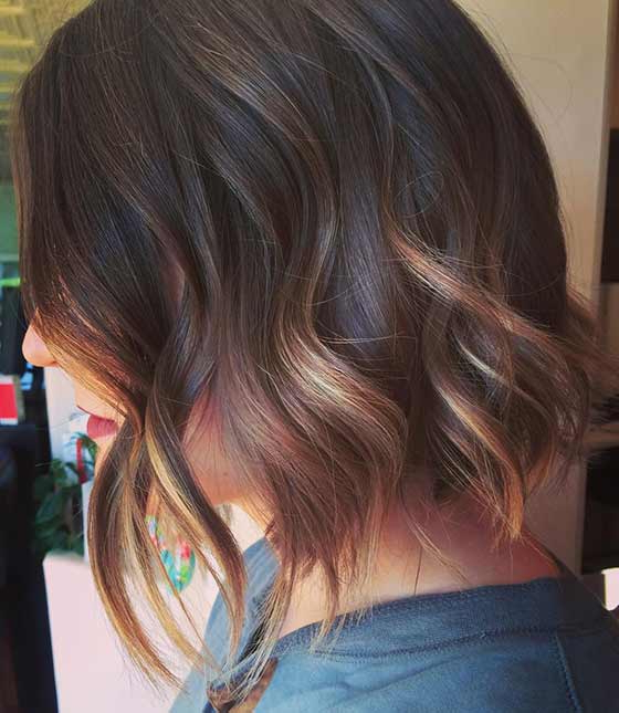 20 Most Flattering Asymmetrical Bob Hairstyles Throughout One Length Balayage Bob Hairstyles With Bangs (View 11 of 25)