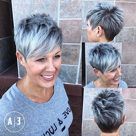 20 Pixie Hairstyles For Over 50 | Short Hairstyles 2018 – 2019 For Spiky Gray Pixie Haircuts (View 24 of 25)
