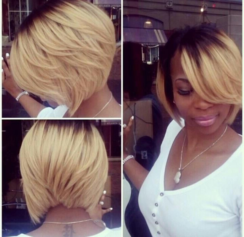 20 Stylish Bob Hairstyle Ideas For Black Women – Popular Haircuts Inside Honey Blonde Layered Bob Hairstyles With Short Back (View 11 of 25)