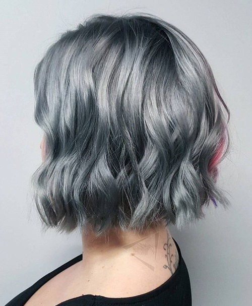20 Trendy Gray Hairstyles – Gray Hair Trend & Balayage Hair Designs Pertaining To Gray Bob Hairstyles With Delicate Layers (View 22 of 25)