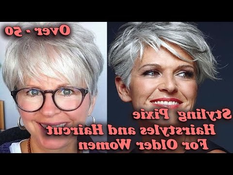 2018 Styling Pixie Hairstyles And Haircut For Older Women Over – 50 Pertaining To Pixie Undercut Hairstyles For Women Over  (View 7 of 25)