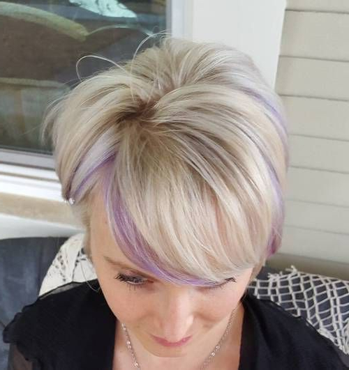 22 Sassy Purple Highlighted Hairstyles (For Short, Medium, Long Hair Throughout Short Ruffled Hairstyles With Blonde Highlights (View 3 of 25)