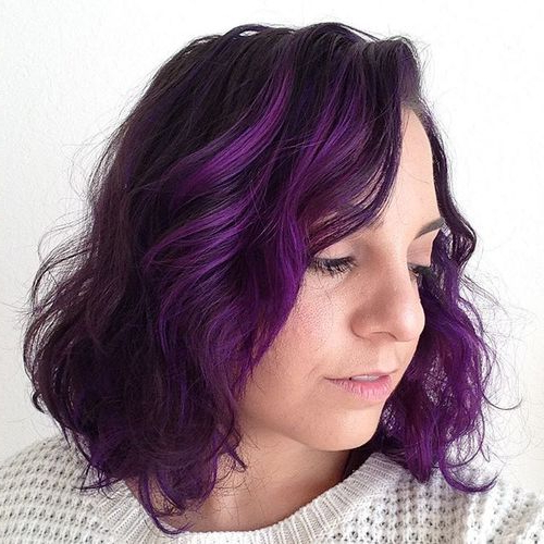 22 Sassy Purple Highlighted Hairstyles (For Short, Medium, Long Hair With Lavender Hairstyles For Women Over (View 25 of 25)