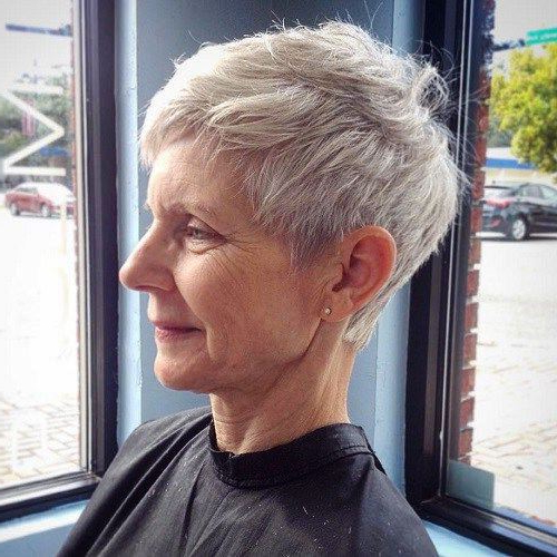 23 Classy Short Hairstyles For Women Over 50 To Look Elegant Intended For Messy Salt And Pepper Pixie Hairstyles (View 13 of 25)