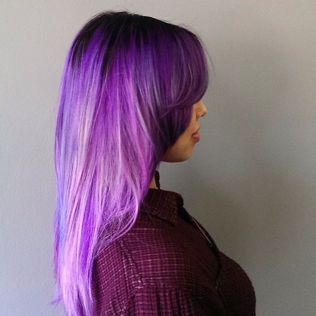 23 Dreamy Purple Colored Hairstyles To Drool Over 2018 | Hairstyle Guru With Regard To Purple Haze Hairstyles (View 4 of 25)