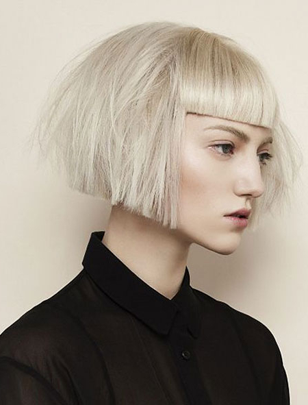 25+ Best Short Straight Hairstyles With Bangs | Short Hairstyles Throughout Straight Bob Hairstyles With Bangs (View 11 of 25)